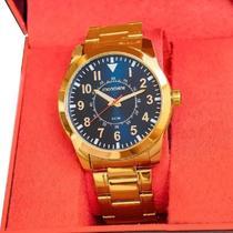 Relógio Mondaine Masculino Dourado Analógico 99138GPMVDE2 -
