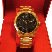 Relógio Mondaine Masculino Dourado Analógico 99140GPMVDE2 -