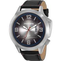 Relógio Mondaine Masculino Preto 83376G0MVNH1 Analógico 3 Atm Cristal Mineral Tamanho Grande -