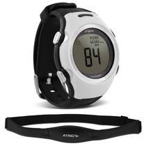 15505c5de8817 Relógio Monitor Cardíaco Smart Run Atrio Altius Preto e Branco Cinta  Transmissora Contador Calorias