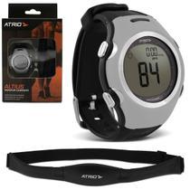 Relógio Monitor Cardíaco Smart Run Atrio HC008 Preto e Cinza Esportivo Contador Calorias Com Cinta -