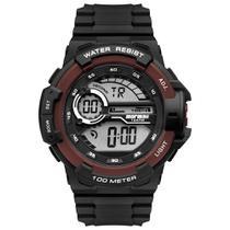 Relógio Mormaii Digital Masculino MO3660AC/8R Preto/vermelho -