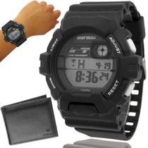 Relógio Mormaii Masculino Cinza Digital Prova d'água Original com garantia de 1 ano -
