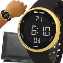 Relógio Mormaii Masculino Digital Dourado Prova d'água com 1 ano de garantia -
