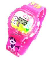 Relógio My Little Pony Unicórnio Rosa Infantil Com Som E Luzes 3d - Sm