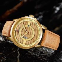 Relógio naviforce importado original modelo 9151 dourado -