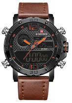 Relógio Naviforce NF9134BO Pulseira de Couro Marrom -