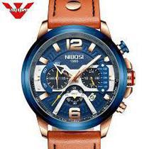 Relógio nibosi marron couro -
