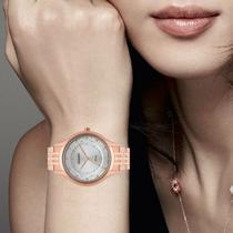 Relógio Orient Feminino FRSS0037G1RX Rosê com Strass Prova dágua -