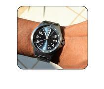 Relogio orient masculino aço prateado visor azul numeros mbss1380 d2sx -