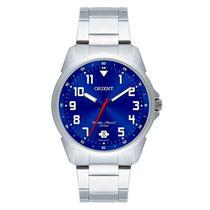 Relógio Orient Masculino Analógico Prata Azul mbss1154a d2sx -