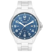 Relógio ORIENT masculino analógico prata azul MBSS1380 D2SX -