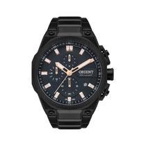 Relogio orient masculino cronografo aço preto mpssc020 -