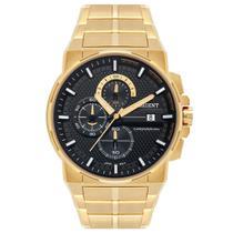 Relógio ORIENT masculino cronógrafo dourado MGSSC028 P1KX -