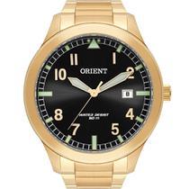 Relógio Orient Masculino Dourado MGSS1181P2KX Analógico 5 Atm Cristal Mineral -