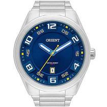 Relógio Orient Masculino Prata MBSS1298D2SX Analógico 10 Atm Cristal Mineral Tamanho Grande -