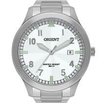 Relógio Orient Masculino Prata MBSS1361B2SX Analógico 5 Atm Cristal Mineral Tamanho Extra Grande -