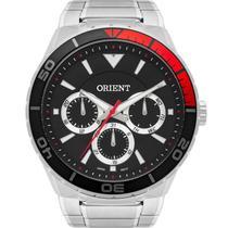 Relógio Orient Masculino Prata MBSSM082P1SX Analógico 5 Atm Cristal Mineral Tamanho Grande -