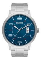 Relógio Orient Prata Masculino Analógico Mbss1381 D2SX  Fundo Branco Linha Eternal Original -