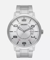 Relógio Orient Prata Masculino Analógico Mbss1381 S2SX  Fundo Branco Linha Eternal Original -