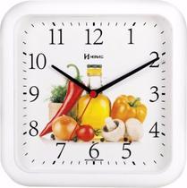 Relógio Parede 23 Cm Cozinha Preto Herweg 660001 - Branco -
