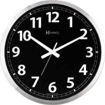 Relógio Parede 40cm Preto Alumínio Silencioso 6720s - Herweg