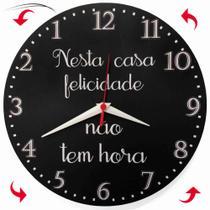 Relógio Parede Anti Horário Cozinha Inverso Home Feliz 30cm - Relógil