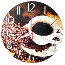 Relógio Parede Café Xícara Cozinha Sala Coffee Decoração 30 Cm - Relógil