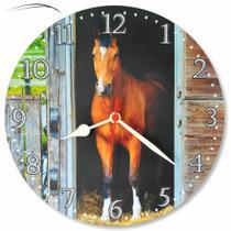 Relógio Parede Cavalo Country Fazenda Área Festa Cozinha 30cm - Relógil