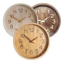 Relógio Parede Churrasco Área Festa Rústico Madeira 25 Cm - Exclusivo