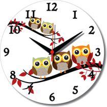 Relógio Parede Coruja Corujinha Cozinha Retrô Vintage 30cm - Relógil