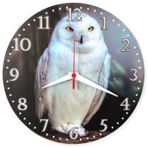 Relógio Parede Coruja Natureza Pássaro Cozinha Ave 30cm - Relógil