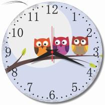 Relógio Parede Corujinha Coruja Retrô Vintage Cozinha 30cm - Relógil