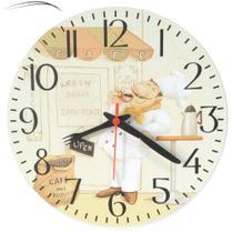 Relógio Parede Cozinha Cozinheiro Chefe Café Vintage 30cm - Relógil