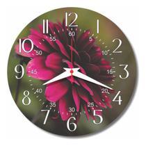 Relógio Parede Cozinha Dalia Flor Retrô Vintage Florido 30cm - Relógil