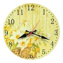 Relógio Parede Cozinha Flor Vintage Envelhecido Retrô 30cm - Relógil