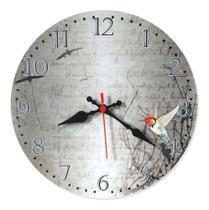 Relógio Parede Cozinha Passarinho Vintage Retrô Grande 30cm - Relógil