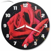 Relógio Parede Cozinha Rosa Flor Retrô Vintage 30cm - Relógil