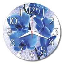 Relógio Parede Cozinha Rosa Flor Retrô Vintage Orquídea 30cm - Relógil