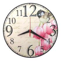 Relógio Parede Cozinha Vintage Retrô Pássaro Sala 30cm - Relógil