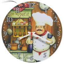 Relógio Parede Cozinheiro Cozinha Chefe Vintage Retrô 30cm - Relógil