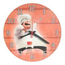 Relógio Parede Cozinheiro Cozinha Vintage Retrô Chefe 30cm - Relógil