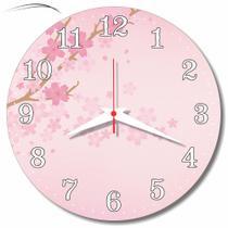Relógio Parede Flor Cerejeira Rosa Cozinha Retrô Árvore 30cm - Relógil