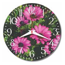 Relógio Parede Flor Cozinha Rosa Jardim Retrô Vintage 30cm - Relógil