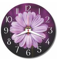 Relógio Parede Flor Roxo Margarida Jardim Cozinha Retro 30cm - Relógil