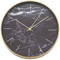 Relógio Parede Fundo Preto 30x30cm - Tascoinport