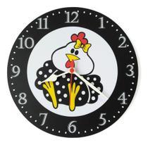 Relógio Parede Galinha Angola Pintada Galo Fofa Cozinha 30cm - Relógil