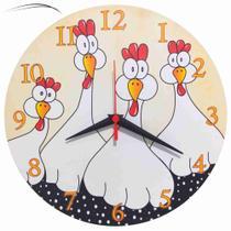 Relógio Parede Galinha Pintadinha Angola Cozinha Retrô 30cm - Relógil