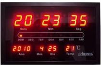 Relógio Parede Herweg 6289 Digital Led Termometro Calendario -