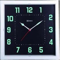 Relógio Parede Herweg 660036 283 Quadrado Fluorescente -